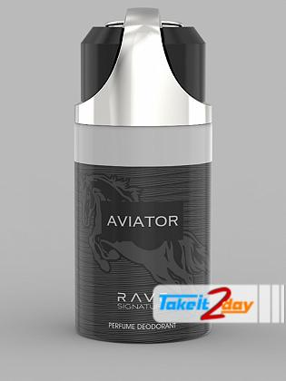 Rave Signature Aviator Perfume Deodorant Body Spray For Man 250 ML