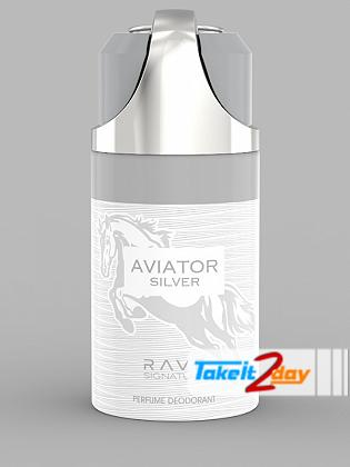 Rave Signature Aviator Silver Perfume Deodorant Body Spray For Man 250 ML