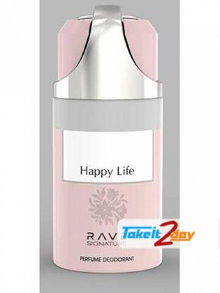Rave Signature Happy Life Perfume Deodorant Body Spray For Man 250 ML