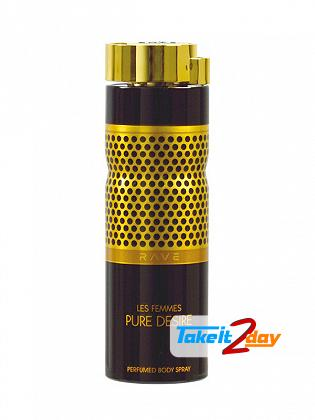 Rave Pure Desire Les Femmes Perfume Deodorant Body Spray For Woman 200 ML
