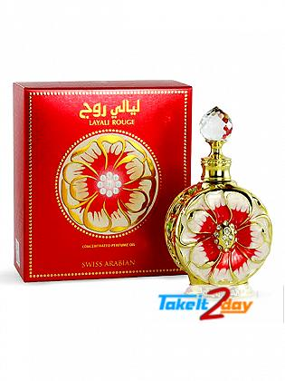 Swiss Arabian Layali Rouge Concentrated Perfume For Men And Women 15 ML CPO