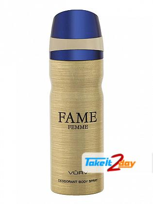 Vurv Fame Femme Deodorant Body Spray For Women 200 ML By Lattafa Perfumes