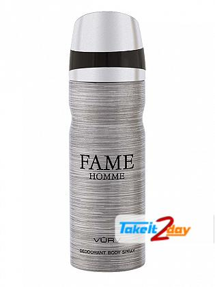 Vurv Fame Homme Deodorant Body Spray For Men 200 ML By Lattafa Perfumes