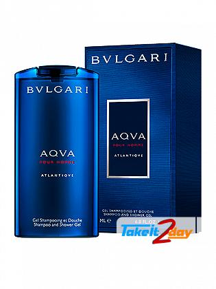 Bvlgari Aqua Atlantiqve Shampoo Shower Gel For Men 200 ML EDT