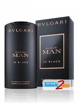 Bvlgari Man In Black Shampoo Shower Gel For Men 200 ML