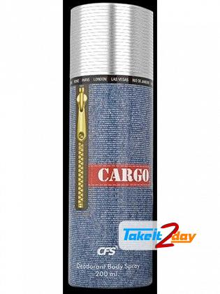 Cfs Cargo Blue Perfumed Deodorant Body Spray For Men 200 ML