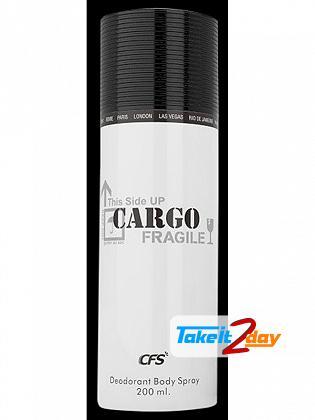 Cfs Cargo White Perfumed Deodorant Body Spray For Men 200 ML
