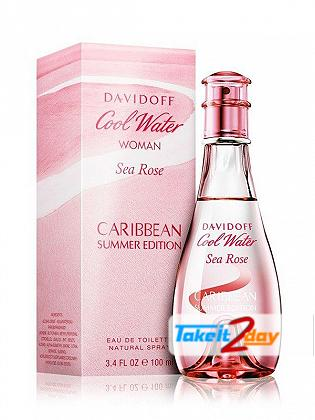 Davidoff Cool Waters Sea Rose Caribbean Summer Perfume For Women 100 ML EDT