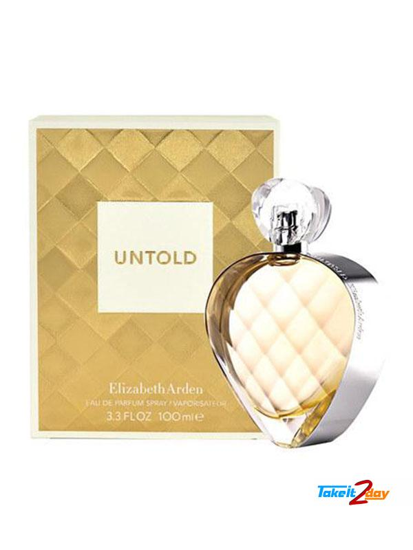 Elizabeth Arden Untold Perfume For Woman 100 ML EDP. Click Image for Gallery