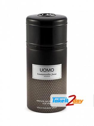 Emmanuelle Jane Uomo Deodorant Body Spray For Men 250 ML