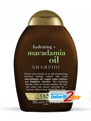 Ogx Macadamia Oil Shampoo For Men And Women 385 ML