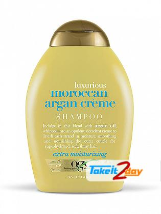 Ogx Moroccan Argan Creme Shampoo For Men And Women 385 ML