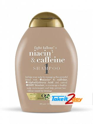 Ogx Niacin 3 & Caffeine Shampoo 1 For Men And Women 385 ML