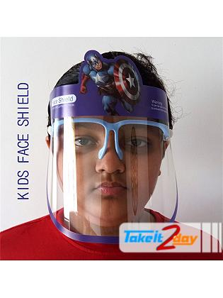 Labdhi International Kids Face Cover Shield Captain America Isolation Panel, Anti Fog, Anti Splash Reusable 300 Microns