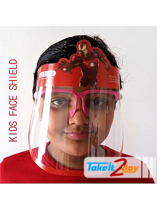 Labdhi International Kids Face Cover Shield Ironman Isolation Panel, Anti Fog, Anti Splash Reusable 300 Microns