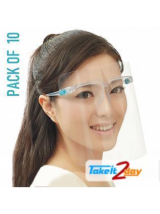 Labdhi International Face Cover Shield Isolation Panel, Anti Fog, Anti Splash Reusable 300 Microns Pack Of 10